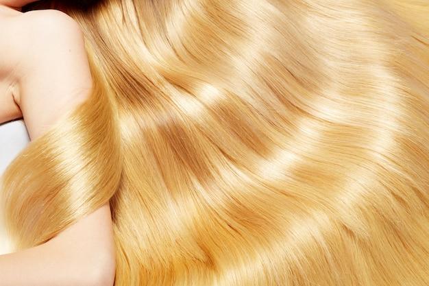 Struttura dei capelli biondi Foto Premium