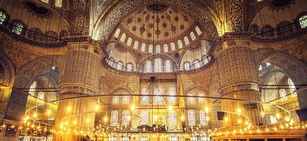 Moschea blu sultan ahmet cami Foto Premium