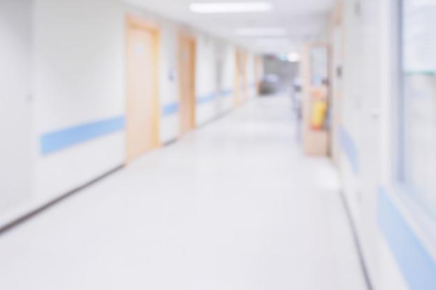 Offuscata corridoio dell'ospedale Foto Premium