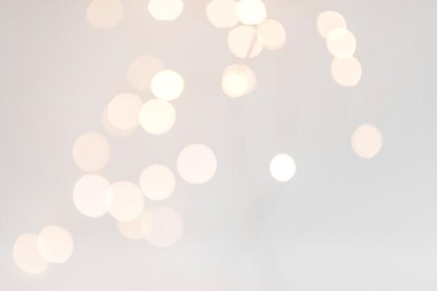 Luci di bokeh su sfondo nero Foto Premium