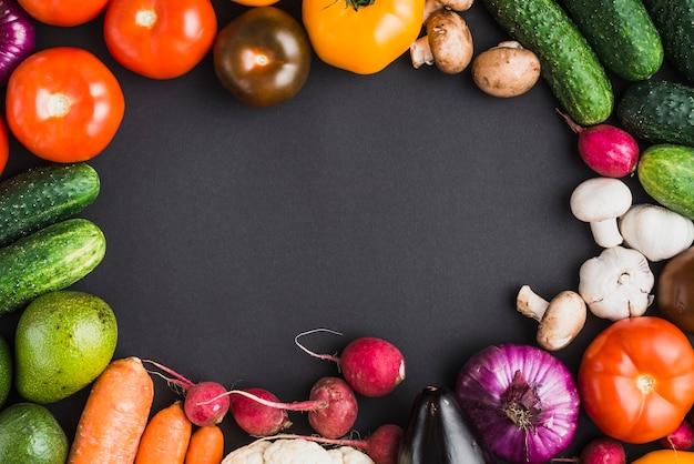 Confine dalle verdure Foto Premium