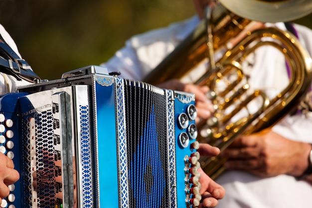 Brass band in baviera Foto Premium