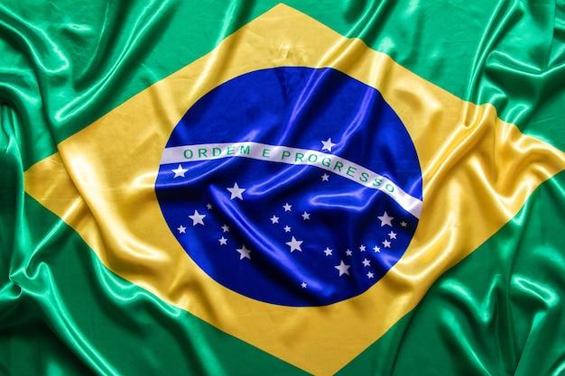 Bandiera brasiliana con texture. Foto Premium