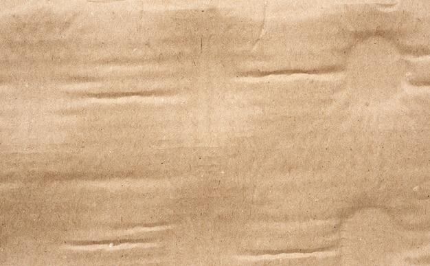 Dettaglio di trama di carta cartone marrone Foto Premium