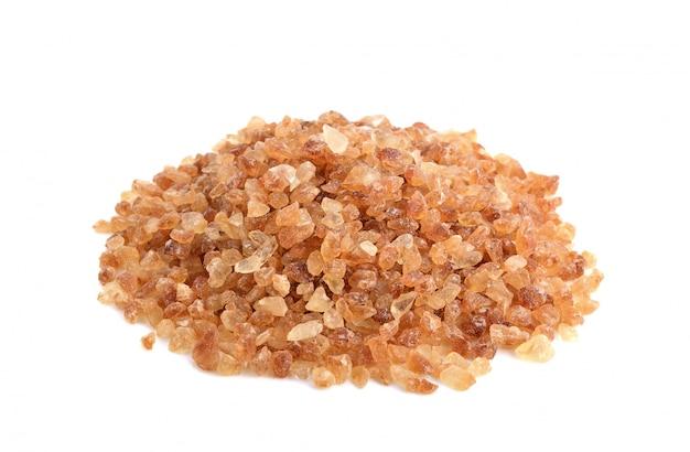 Zuccheri di roccia marrone isolati Foto Premium
