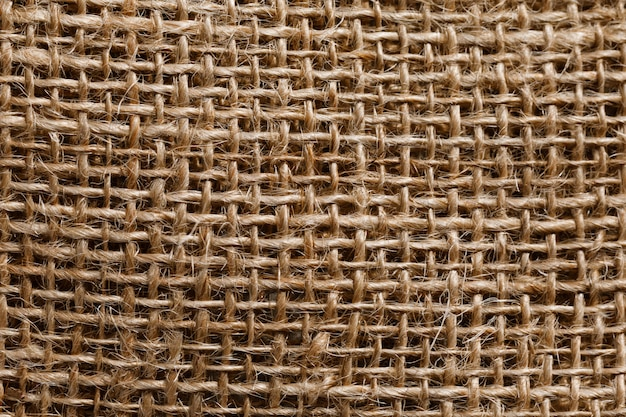 Primo piano del fondo di struttura della tela da imballaggio con spazio per testo Foto Premium