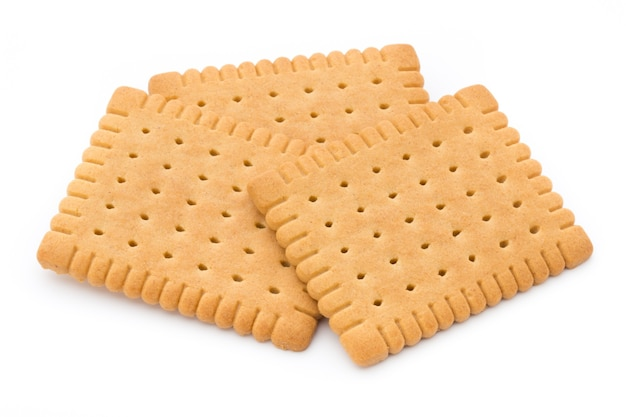 Cracker di burro sulla superficie bianca. Foto Premium