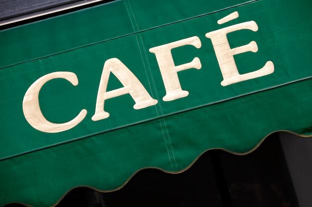 Baldacchino del caffè a parigi Foto Premium
