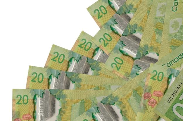 Le fatture dei dollari canadesi si trovano nell'ordine differente isolato Foto Premium