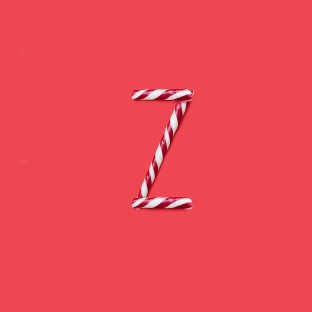 Carattere di caramelle e zucchero. lettera z Foto Premium