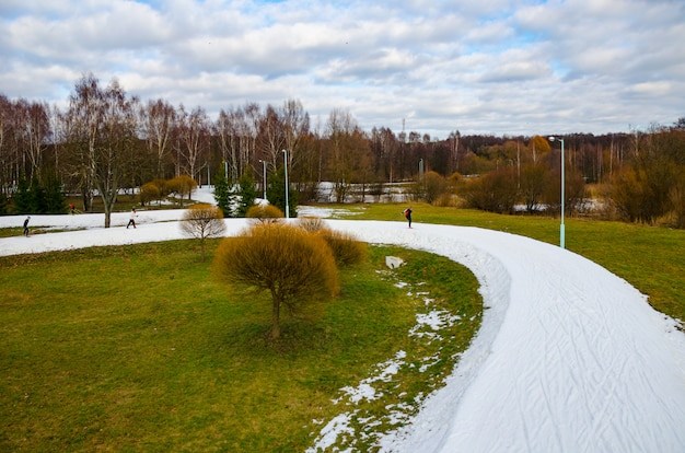 Nel centro di minsk sono state gare di sci Foto Premium