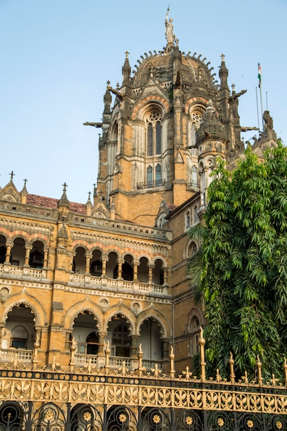 Chhatrapati shivaji terminus a mumbai, in india. Foto Premium