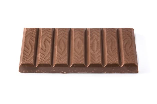 Cioccolato isolato su sfondo bianco Foto Premium