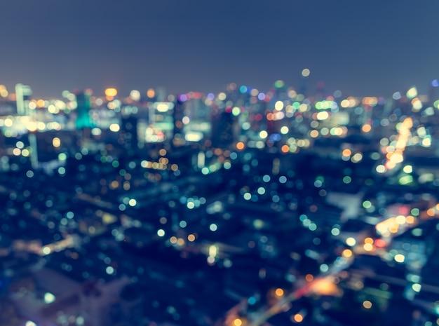 Luce della città sfocata, astratto. Foto Premium