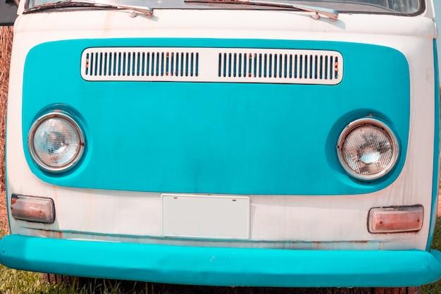 Fari di auto d'epoca classici, auto d'epoca classiche bellissimi colori pastello Foto Premium