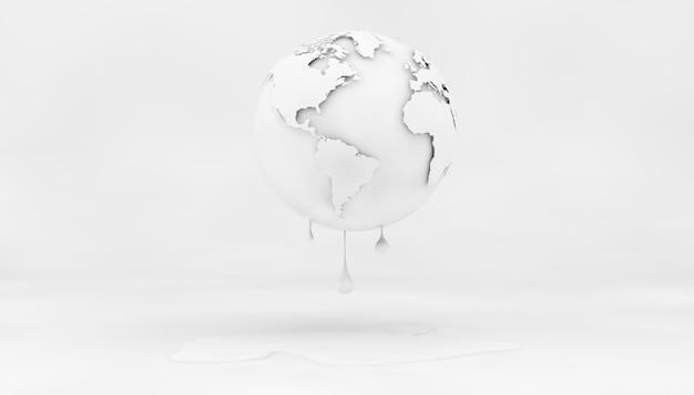 Libro bianco sul concetto di cambiamento climatico nella rappresentazione 3d Foto Premium