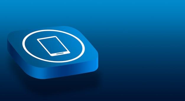 Primo piano sul pulsante 3d con l'icona di un telefono Foto Premium