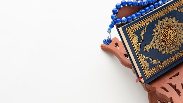 Primo piano islamico nuovo anno con spazio di copia Foto Premium