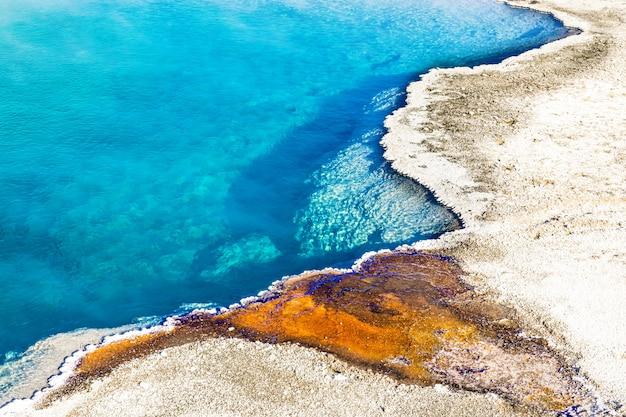 Modello colorato del black pool, il parco nazionale di yellowstone Foto Premium