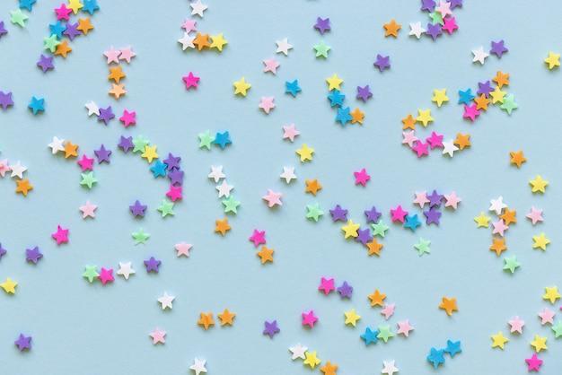 Stelle colorate decorazione festa di capodanno vacanze di natale sogni concetto Foto Premium
