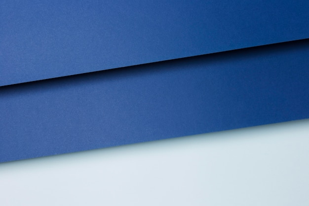 Composizione del fondo degli strati della carta blu Foto Premium