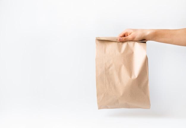 Concetto di acquisti sicuri, consegna.coronavirus 2019-ncov. Foto Premium