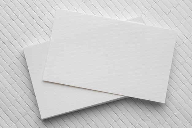 Biglietti da visita in bianco di cancelleria aziendale Foto Premium