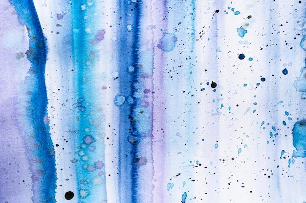 Inchiostro e linee blu dell'acquerello astratto creativo Foto Premium
