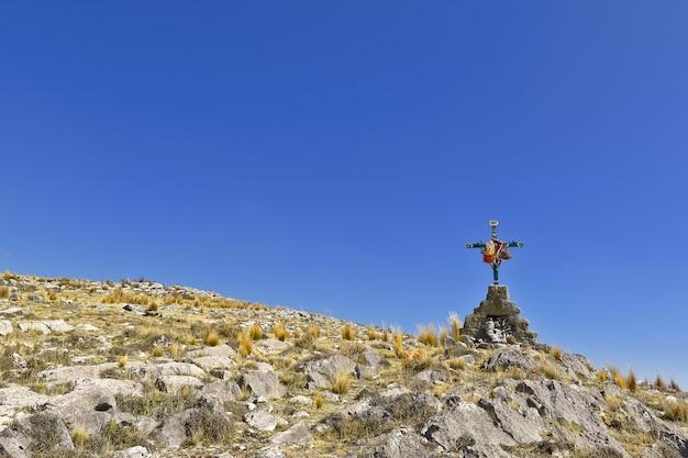 Croce di maggio sulla città di ondores Foto Premium