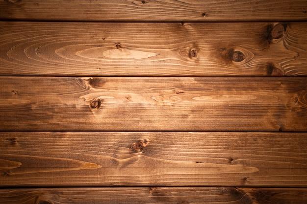 Sfondo di assi di legno scuro Foto Premium