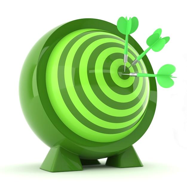 Freccette con frecce verdi al centro Foto Premium