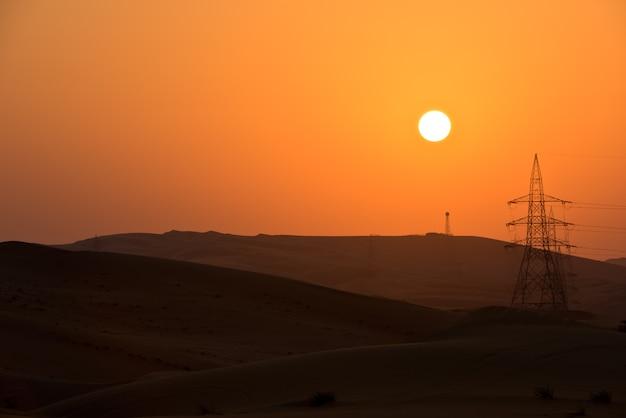 Dune del deserto a liwa, emirati arabi uniti Foto Premium