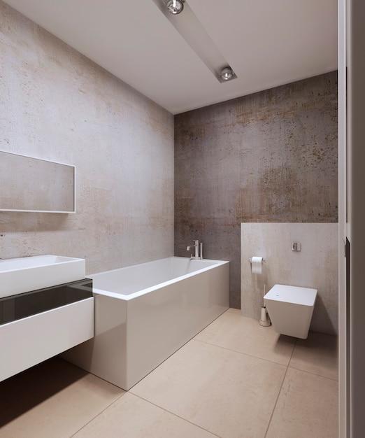 Design degli interni del bagno moderno Foto Premium
