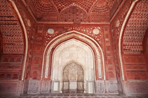 Particolare della decorazione del taj mahal Foto Premium
