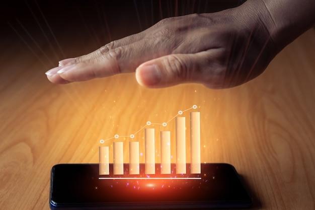 Idea di concetto di foto seo marketing digitale con infografica Foto Premium