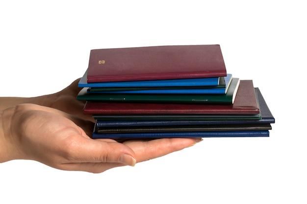 Documenti in mano Foto Premium