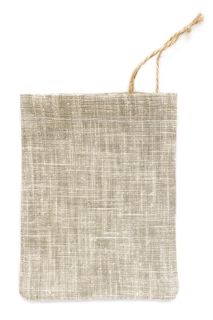 Sacche a sacco in cotone ecologico naturale, in lino, mockup Foto Premium