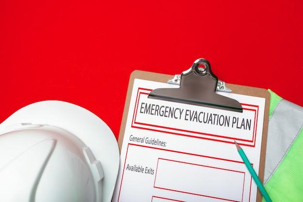 Piano di evacuazione di emergenza Foto Premium