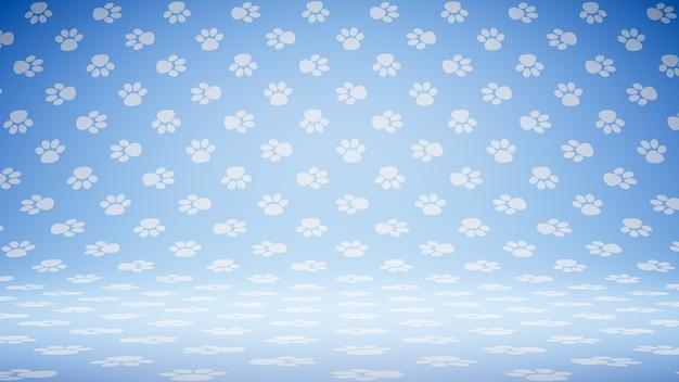 Vuoto vuoto pet footprint symbol pattern studio Foto Premium