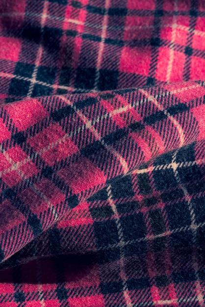 Tessuto con motivo a quadri colorati. tessuto a quadri rosa. casella di controllo del tessuto combinazione di design di colore grigio bianco rosa. Foto Premium