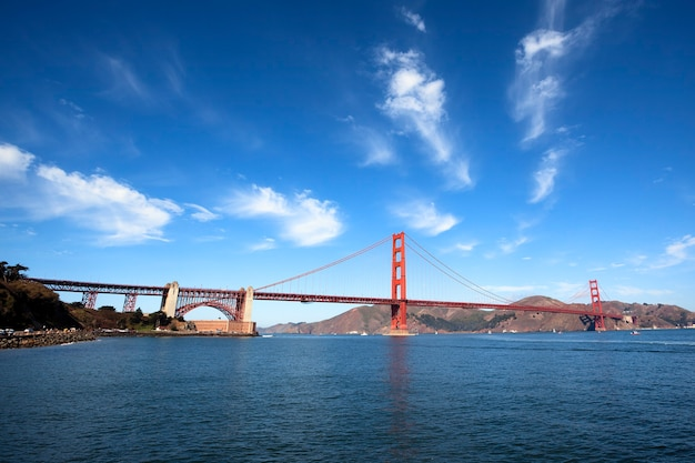Famoso golden gate bridge di san francisco, california, usa Foto Premium