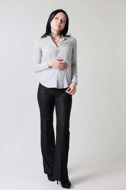 Ritratto di donna d'affari di moda Foto Premium