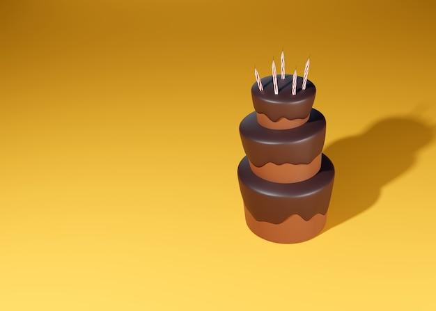 Candele festive decorano la parte superiore della torta Foto Premium