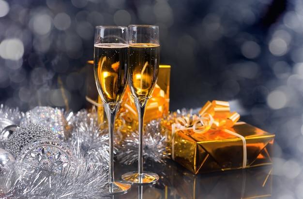 Festa di natale ancora in vita con copia spazio Foto Premium