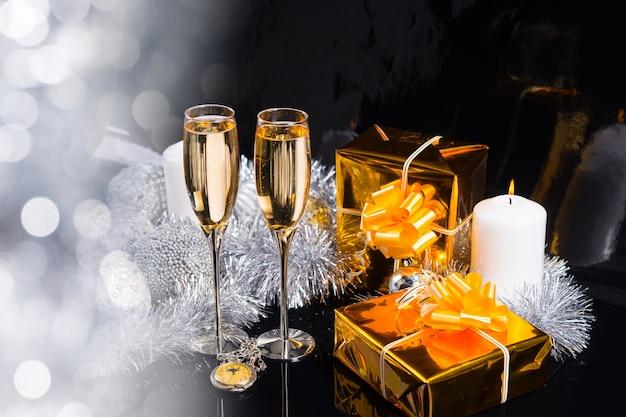 Natale scintillante festivo ancora in vita Foto Premium