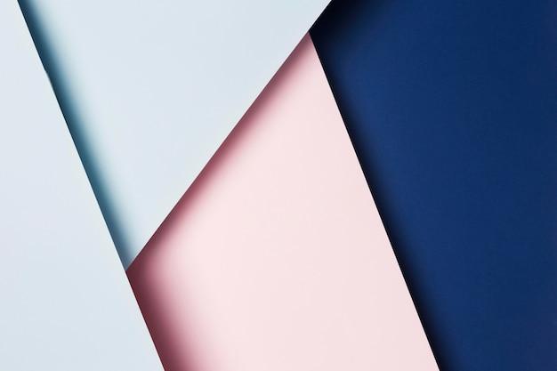 Assortimento piatto di fogli di carta multicolore Foto Premium
