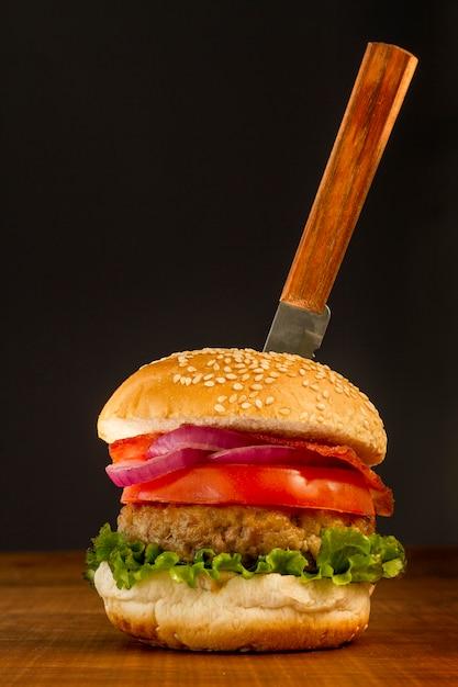 Hamburger fresco Foto Premium
