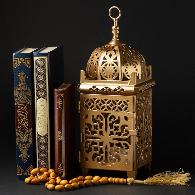 Vista frontale concetto islamico di nuovo anno Foto Premium