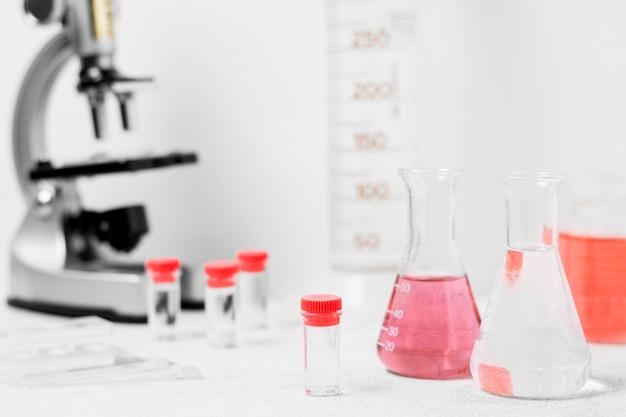 Vista frontale del concetto di scienza Foto Premium