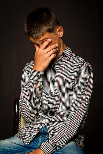 Problema frustrato ragazzo teenager Foto Premium